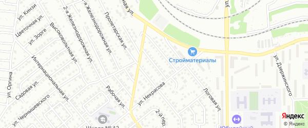 Некрасова 2-й переулок на карте Кумертау с номерами домов