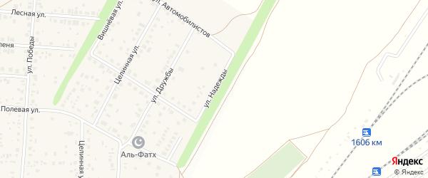 Улица Надежды на карте села Жуково с номерами домов