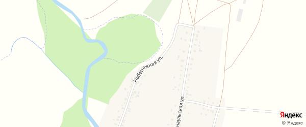 Набережная улица на карте села Аючево с номерами домов