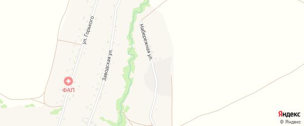 Набережная улица на карте села Новокайпаново с номерами домов