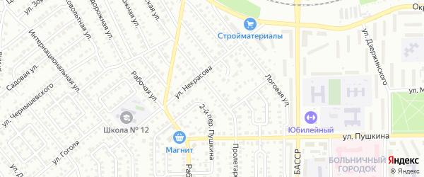 Пролетарская улица на карте Кумертау с номерами домов