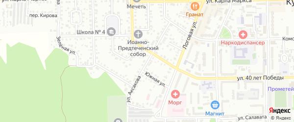 Улица Аксакова на карте Кумертау с номерами домов
