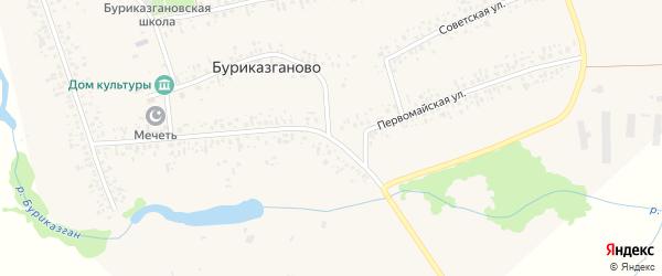 Первомайская улица на карте села Буриказганово с номерами домов