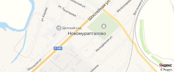 Набережная улица на карте села Новомурапталово с номерами домов