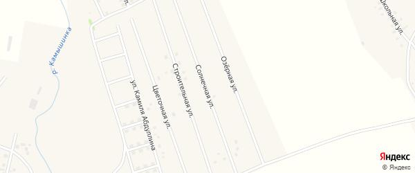 Солнечная улица на карте села Старых Камышлы с номерами домов