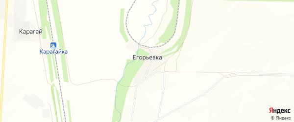 Карта деревни Егорьевки в Башкортостане с улицами и номерами домов