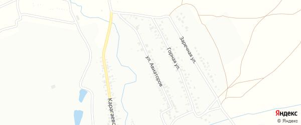 Улица Авиаторов на карте Кумертау с номерами домов