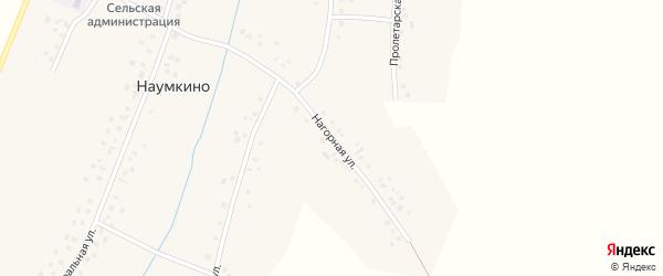 Нагорная улица на карте деревни Наумкино с номерами домов