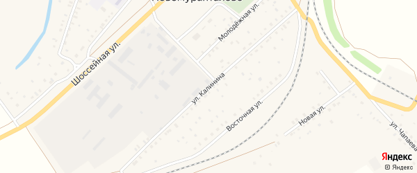 Улица Калинина на карте села Новомурапталово с номерами домов