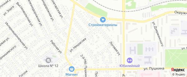 Некрасова 1-й переулок на карте Кумертау с номерами домов