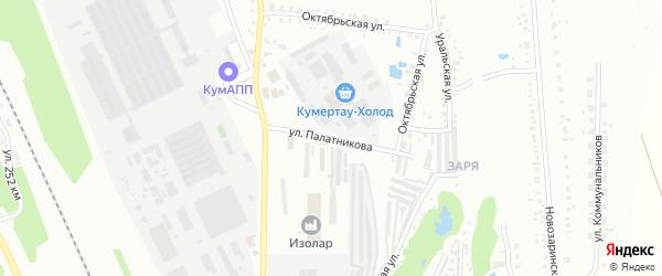 Массив 19 1-я Западная улица на карте Кумертау с номерами домов