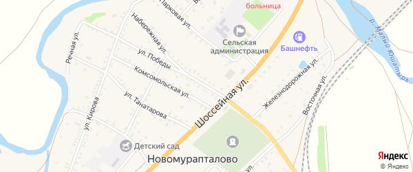 Улица Победы на карте села Новомурапталово с номерами домов