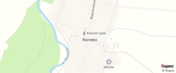 Янаульская улица на карте села Аючево с номерами домов