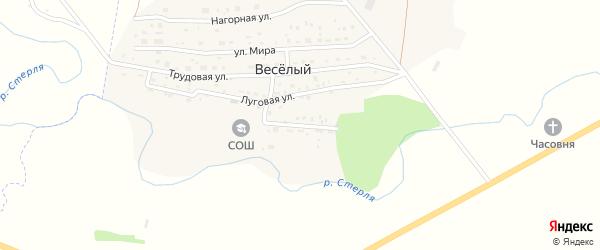 Набережная улица на карте деревни Веселого с номерами домов