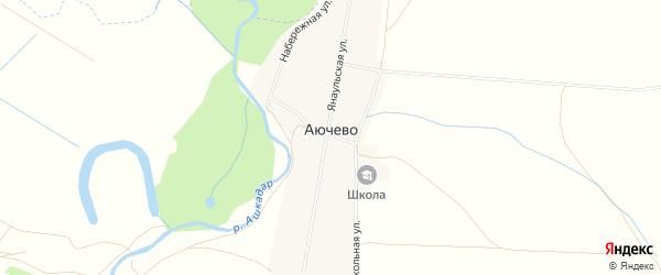 Карта села Аючево в Башкортостане с улицами и номерами домов