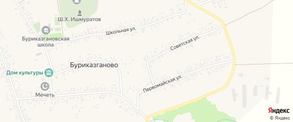 Советская улица на карте села Буриказганово с номерами домов