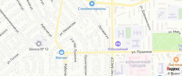 Пролетарский 2-й переулок на карте Кумертау с номерами домов