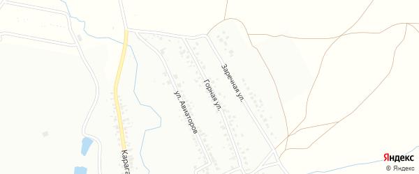 Массив 20 Горная улица на карте Кумертау с номерами домов