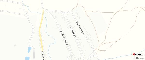 Горная улица на карте Кумертау с номерами домов