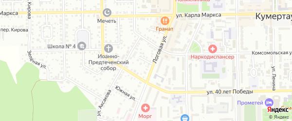 Логовой переулок на карте Кумертау с номерами домов