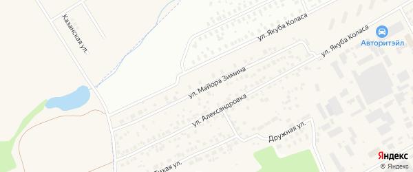 Улица Майора Зимина на карте Уфы с номерами домов