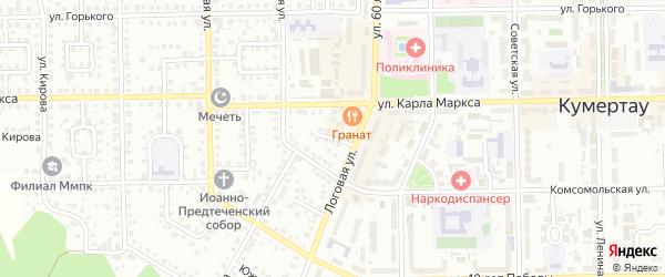 Горняцкий переулок на карте Кумертау с номерами домов
