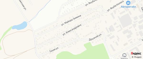 Улица Александровка на карте Уфы с номерами домов