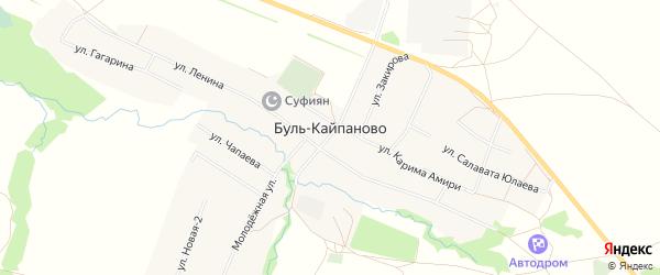 Карта села Буль-Кайпаново в Башкортостане с улицами и номерами домов