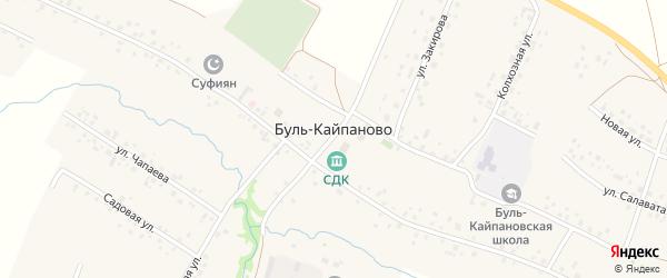 Новая 2-я улица на карте села Буль-Кайпаново с номерами домов