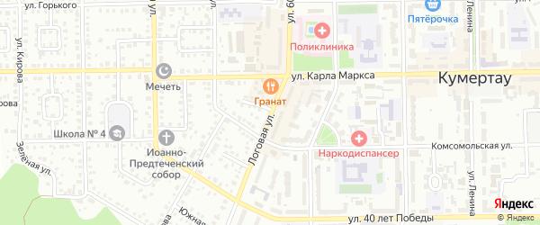 Логовая улица на карте Кумертау с номерами домов