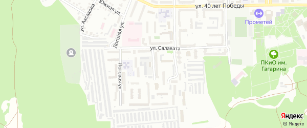 Салавата 2-й переулок на карте Кумертау с номерами домов