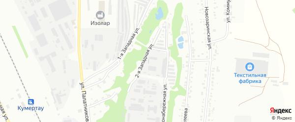 Массив 8 Левонабережная улица на карте Кумертау с номерами домов