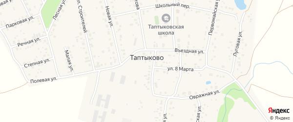 Березовая улица на карте села Таптыково с номерами домов