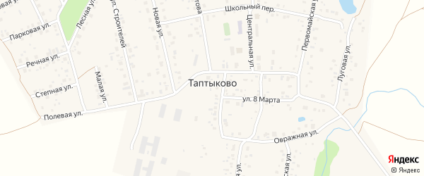 Дорожная улица на карте села Таптыково с номерами домов