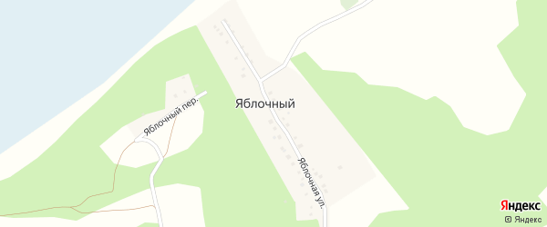 Яблочная улица на карте деревни Яблочного с номерами домов