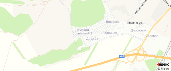 СНТ Дружба Башспецстрой на карте Уфы с номерами домов