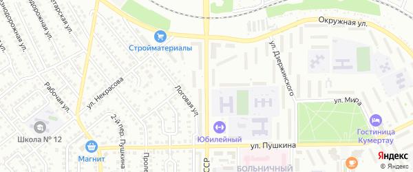 Улица 60 лет БАССР на карте Кумертау с номерами домов