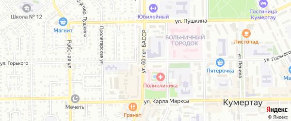 Улица Горького на карте Кумертау с номерами домов