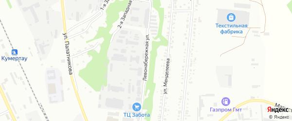 Левонабережная улица на карте Кумертау с номерами домов