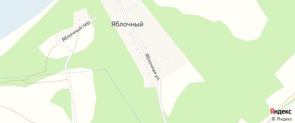 Яблочный переулок на карте деревни Яблочного с номерами домов