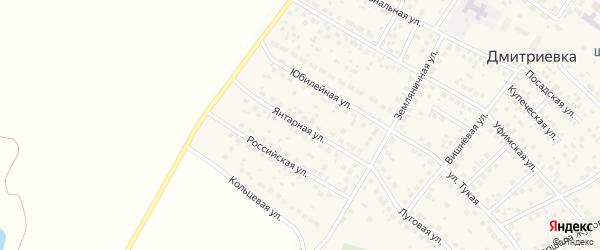 Янтарная улица на карте села Дмитриевки с номерами домов