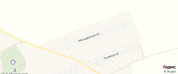 Молодёжная улица на карте села Буриказганово с номерами домов