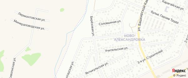 Березовая улица на карте Уфы с номерами домов