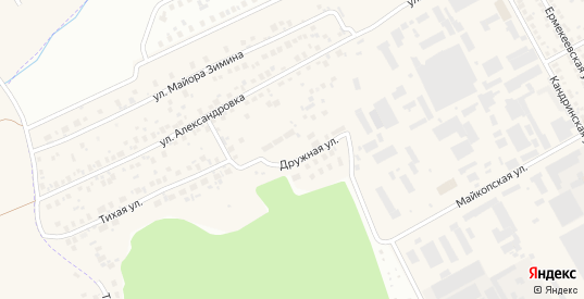 Дружная улица - MapData ru