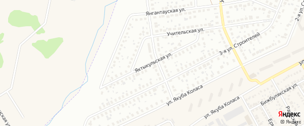 Яктыкульская улица на карте Уфы с номерами домов