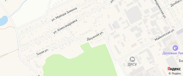 Дружная улица на карте поселка МК-111 с номерами домов