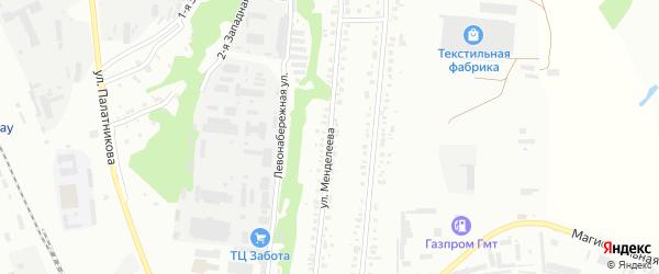 Улица Менделеева на карте Кумертау с номерами домов