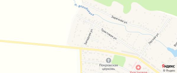 Западная улица на карте села Дмитриевки с номерами домов