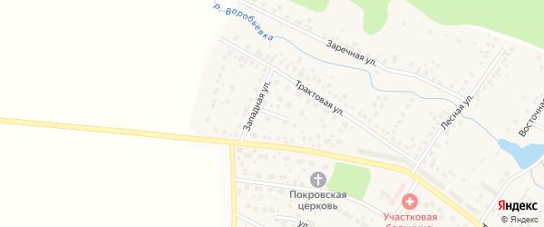 Западный переулок на карте села Дмитриевки с номерами домов