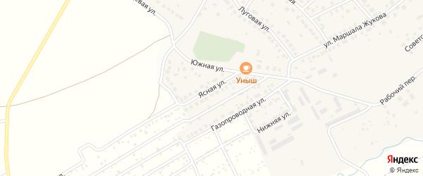 Ясная улица на карте села Дмитриевки с номерами домов